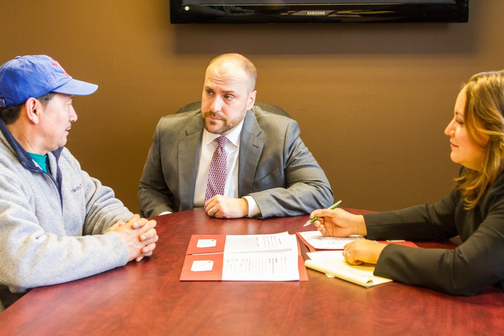 Coello & Lorenzotti in a meeting with client